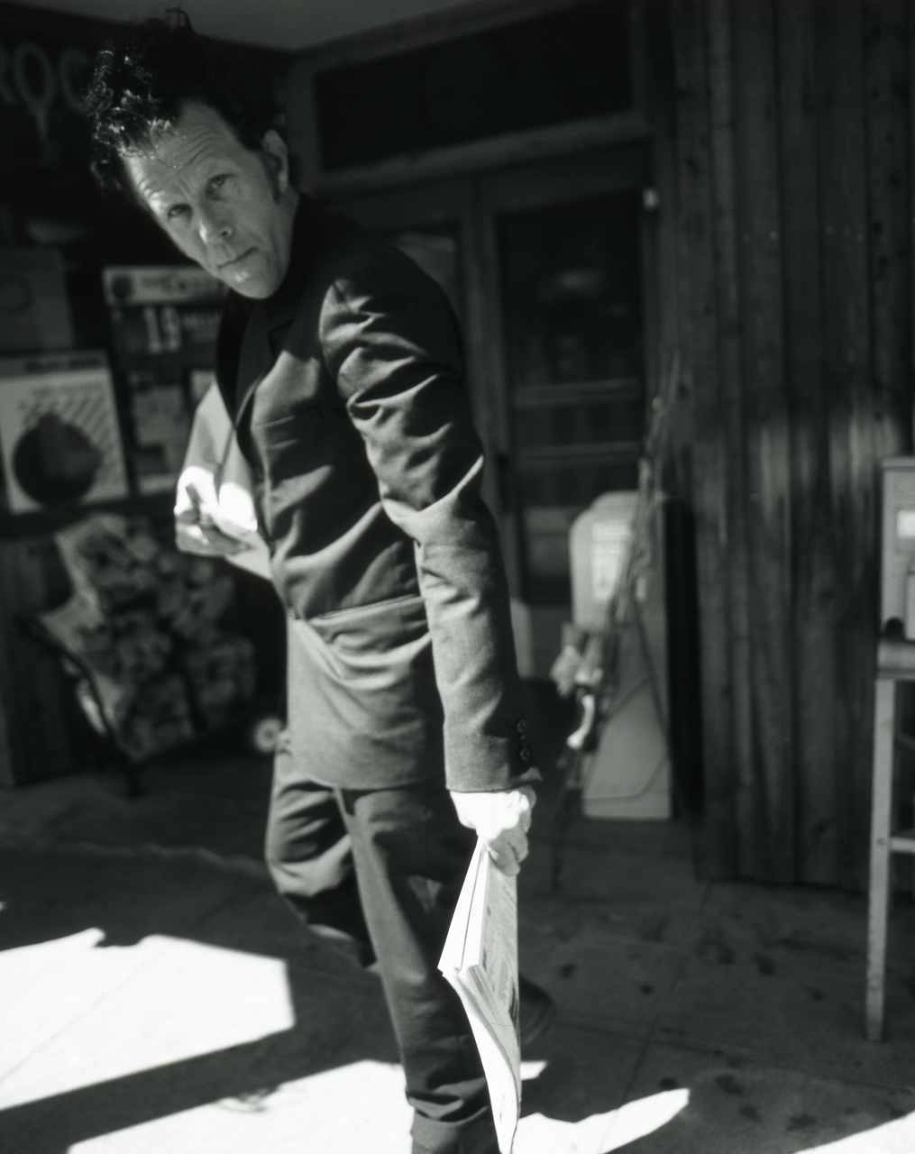 Tom Waits (B&W)